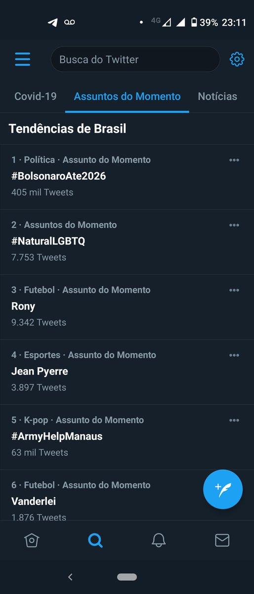 Em poucos minutos subiu mais! #BolsonaroAte2026