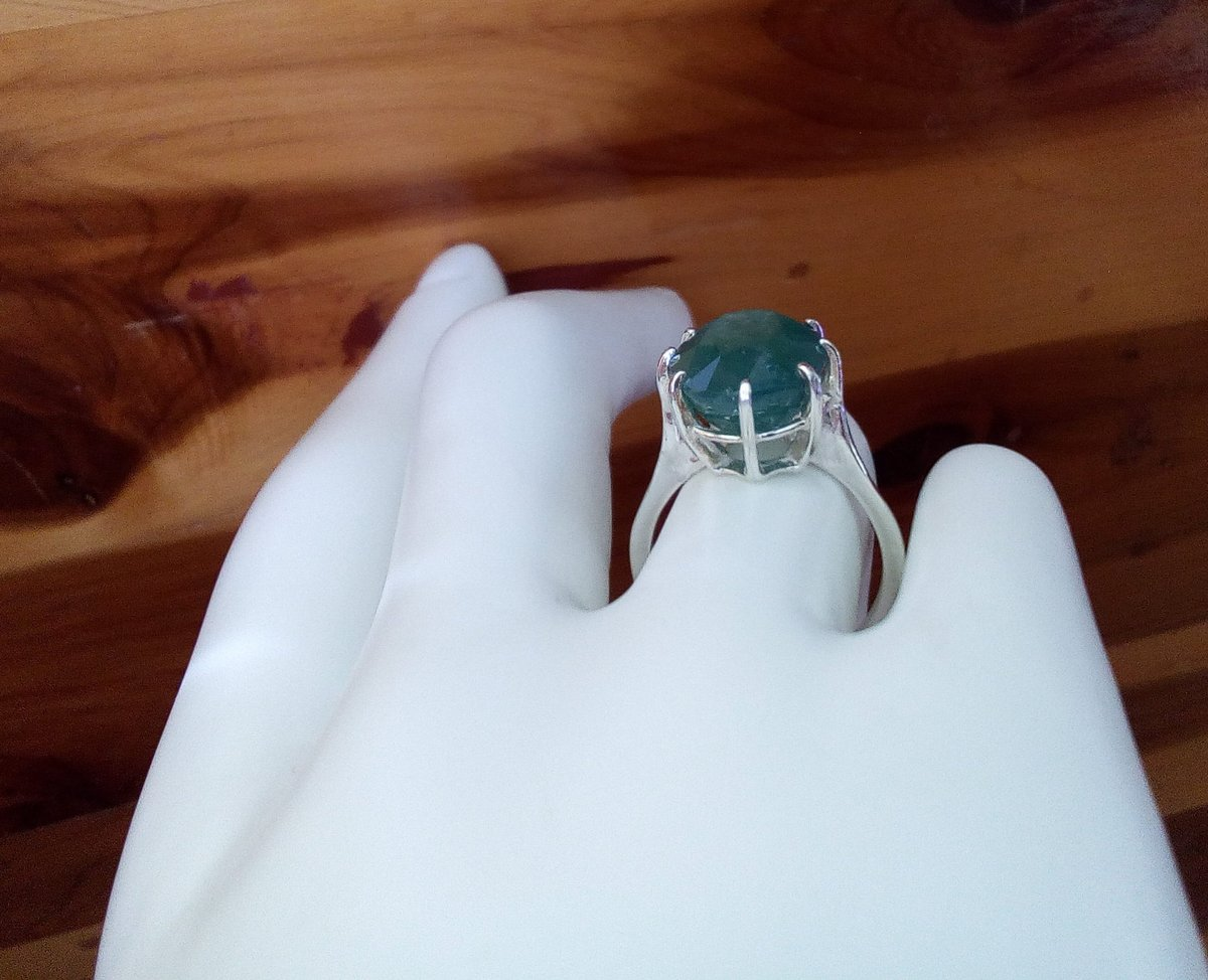 Excited to share the latest addition to my #etsy shop: rare 8 carat green grandidierite ring sterling silver ring size 7 unique statement engagement jewelry gift https://t.co/G1Q6Lo8JmI #green #oval #geometric #silver #women #ring #artnouveau #grandidieritering #rare https://t.co/xQwIJy3dMR