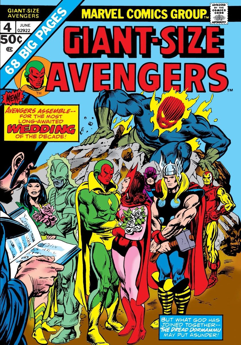 In honor of launching the first viewing of @wandavision , an homage to one of the most important issues of my #comics collecting life.  Don't ever remember looking forward to a single issue more than this #Avengers special. #WandaVision @MarvelStudios #AvengersAssemble
