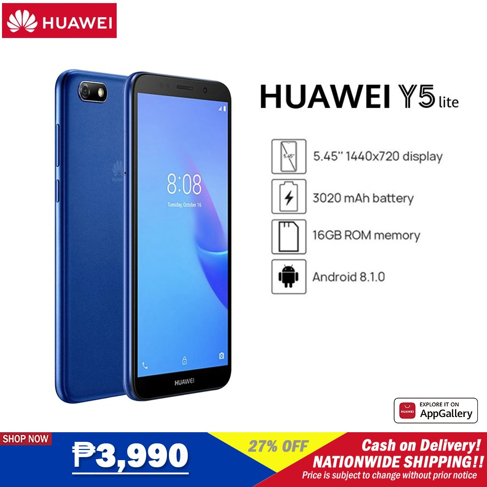 ‼️HUAWEI Y5 lite‼️ 🛒SHOP NOW!➡  🛒SHOP NOW!➡  ₱3,990  🚚Cash on Delivery 🚚Nationwide Delivery  **Price is subject to change without prior notice  #Huawei #LazadaxLMH #LazadaxKathryn #NasaLazadaYan #LazadaPH #payday #shoponline