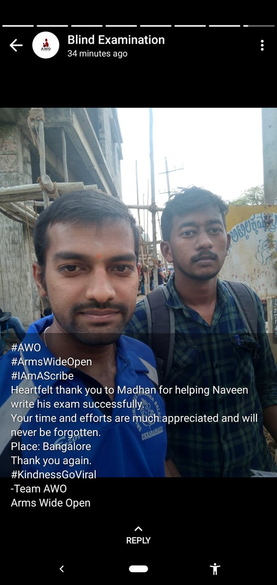 We are #Physically fit. Yes we got an opportunity to help others See. I volunteer for #HelpingHand Blind to write their Exams (Scribe). Thankyou Team #AWO.  #GivingBackToSociety #CSR #charity Covid hit 2020; Kickstarted 2021 with something Good. #NewNormal Place: Bengaluru