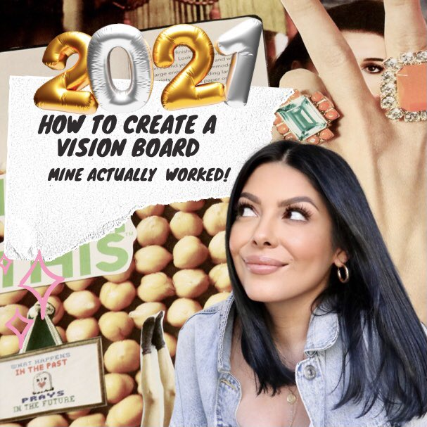 I made a vision board - and everything came true! 🙈  #VisionBoard #2021goals #LawOfAtrraction #GameChanger #goals