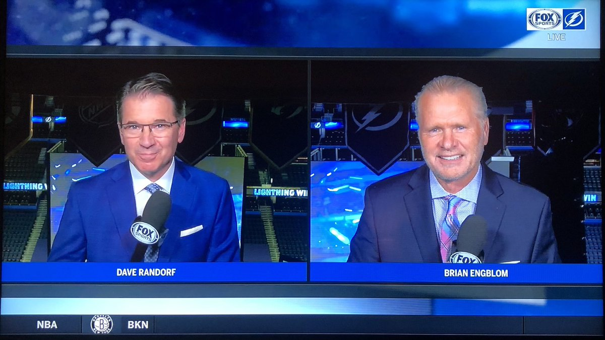 Congrats to @DaveRandorf on his first game with Stanley Cup Champions @TBLightning tonight. Never sounded better! @FOXSportsFL #GoBolts