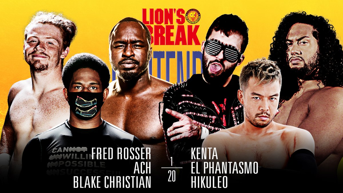 Let's get the weekend started #njpwSTRONG!  El Phantasmo makes his Friday night debut, in a huge team with KENTA and Hikuleo!   ACH, Blake Christian and Fred Rosser will make tough opposition in a chaotic main event!  WATCH NOW:   #njcontender #njBREAK