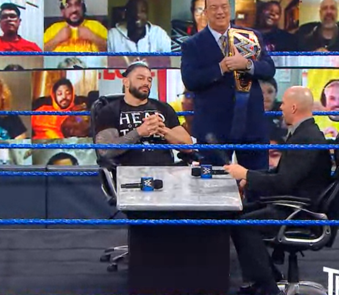 head of the table....get it? #WWEThunderdome #Smackdown