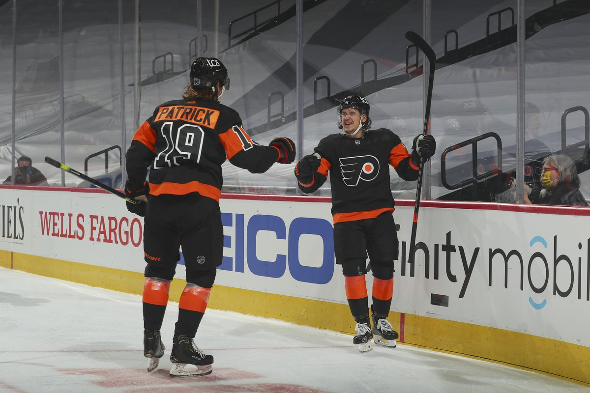 Travis Konecny scored a hat trick and Carter Hart made 31 saves as the #Flyers picked up a second straight win over the #Penguins.   RECAP:   #FlyersTalk #AnytimeAnywhere