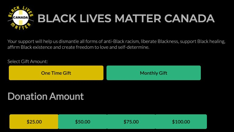 Today is #BlackShirtDay. You can take one more step and DONATE to the organizations on the ground fueling change:  #BlackLivesMatter #BLM