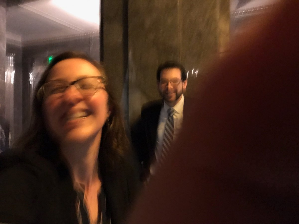 Just in case #waleg never lets me back into the Senate wings, here's what my face looks like watching them pass a bill that I put my blood, sweat, & (yes) tears into. Happiest day at work ever!