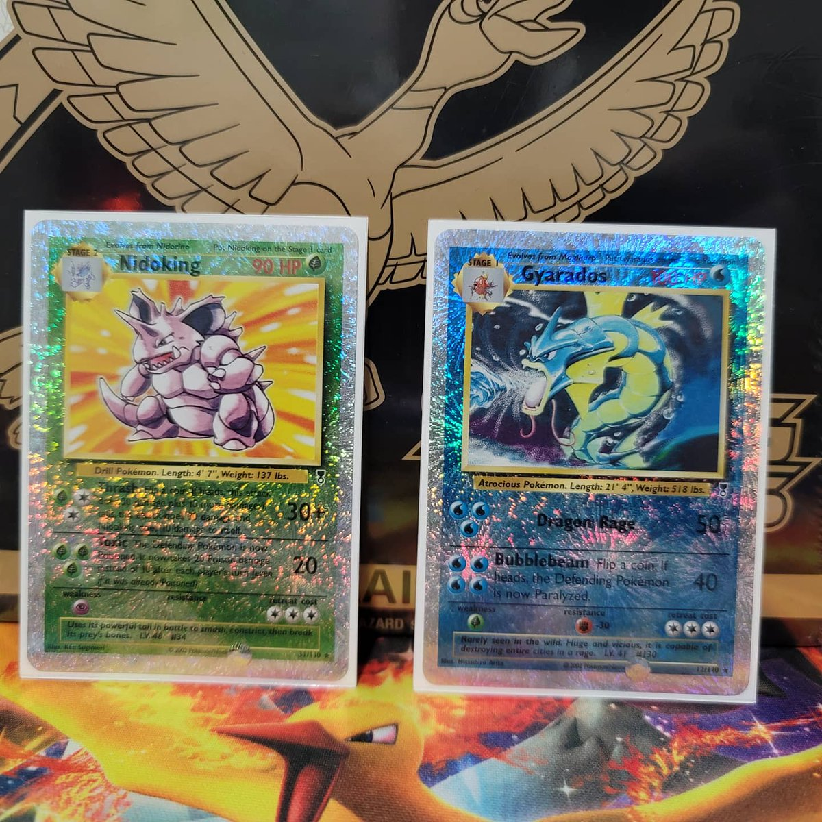 Late to the party - insert Katy Perry firework joke along with these firework reverse foils.  #Pokemon25 #katyperry #firework