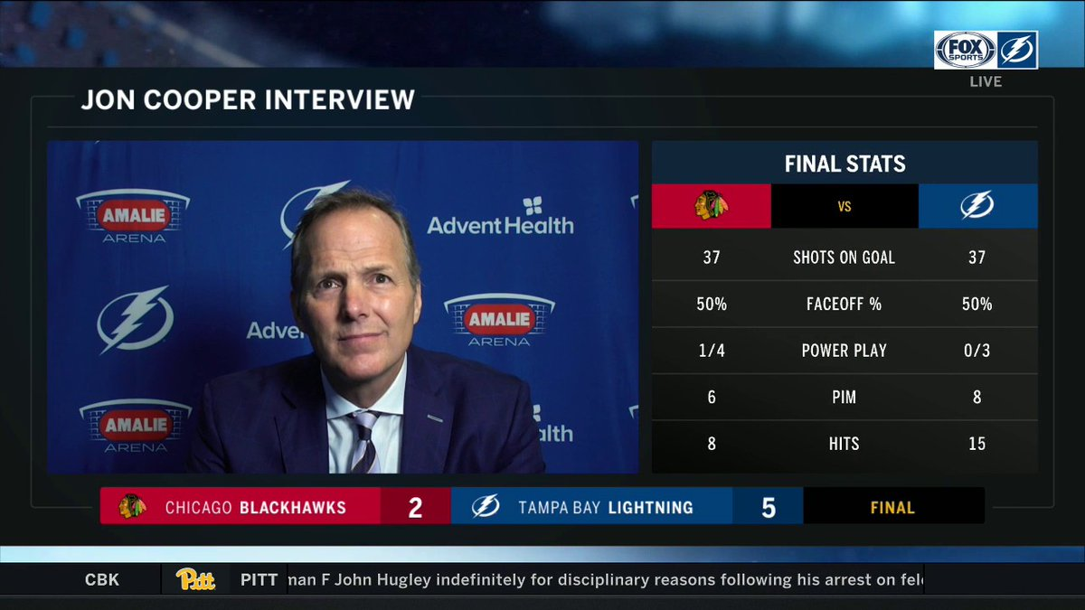 Jon Cooper talks after the @TBLightning 5-2 win about the Bolts response, Yanni Gourde's line, momentum and more!   Catch more on the FOX Sports Sun postgame show! #GoBolts