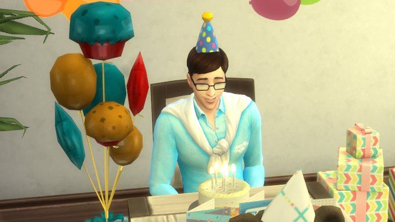 patton's birthday but it's in the sims 4 🥺 @ThomasSanders