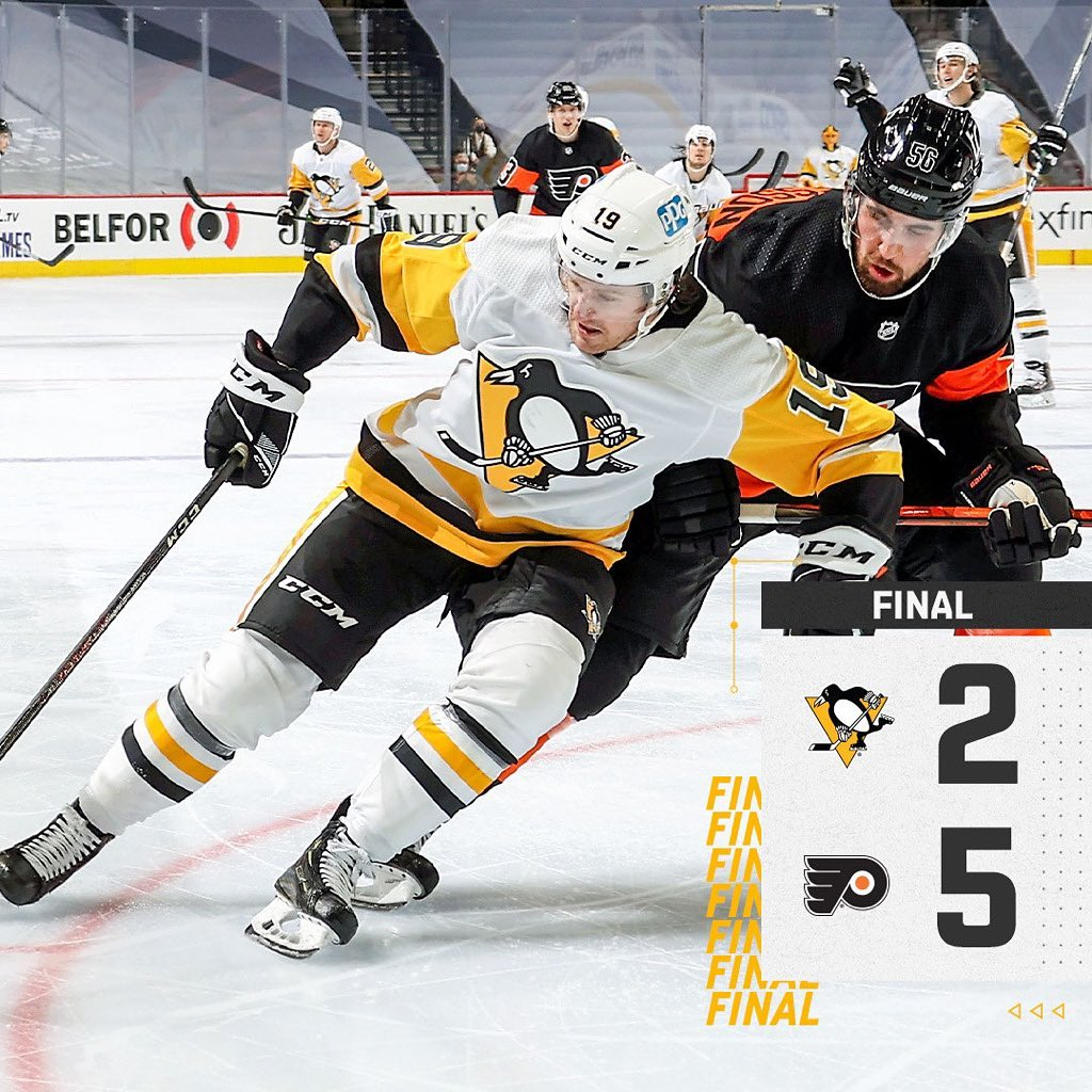 #Pittsburgh #Penguins: The #Penguins fall to the Flyers on the road, 5-2....       #Hockey #IceHockey #NationalHockeyLeague #Nhl #NHLEasternConference #NHLEasternConferenceMetropolitanDivision #Pennsylvania #PittsburghPenguins