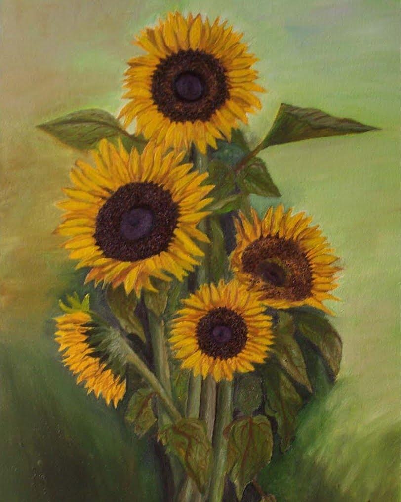 Sunflowers Oil on canvas  #art #oiloncanvas #oil #sunflowers #arte #girasoles #modernart #drawing #artontwitter #artonline #artonecuador #artgalleries