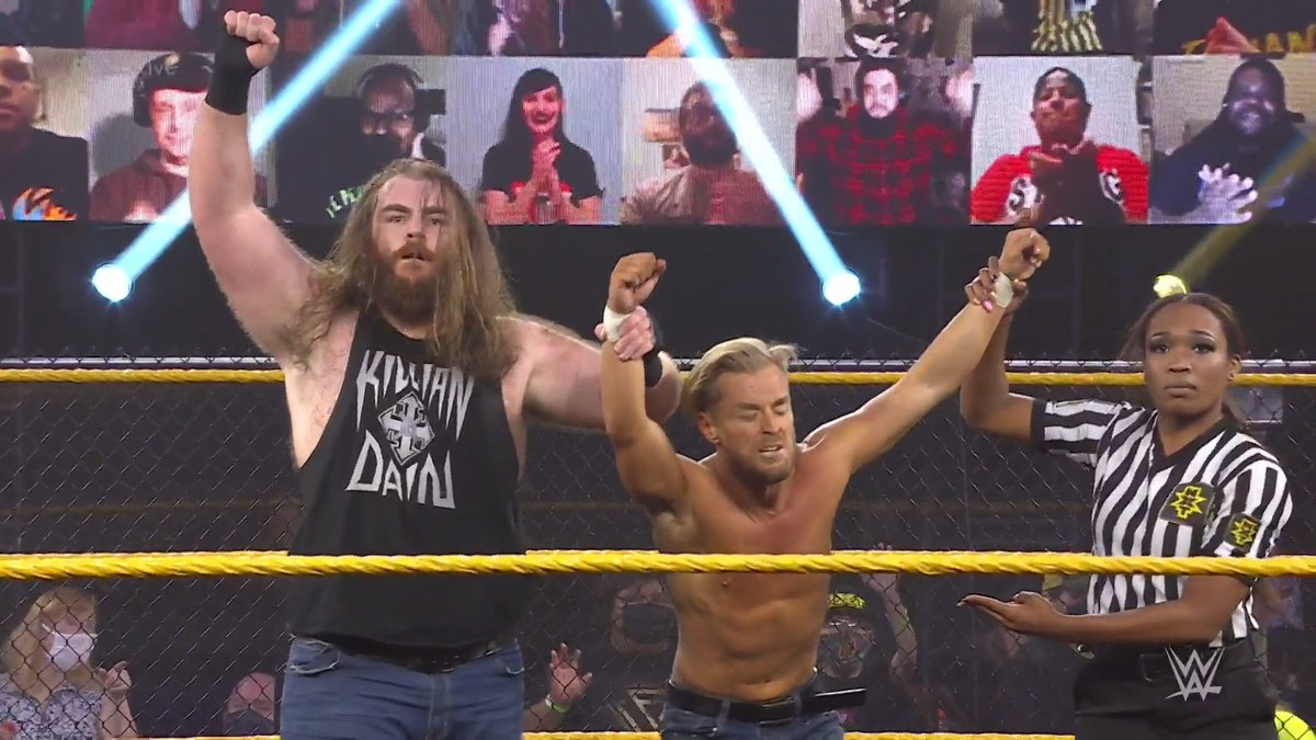 Replying to @WWENXT: .@WWEMaverick and #KillianDain are moving on in the #DustyClassic!  #205Live