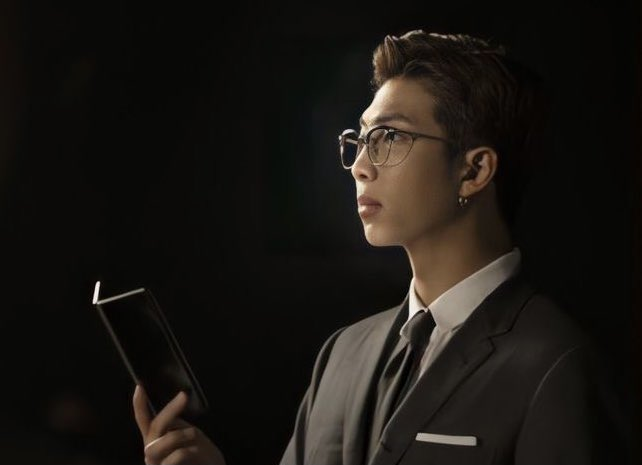 """Joonie literally looks like he'd be voted """"CEO of the Year"""" every single year. 🥴👏🏼💜✨ #namjoon #BTSxSamsung"""