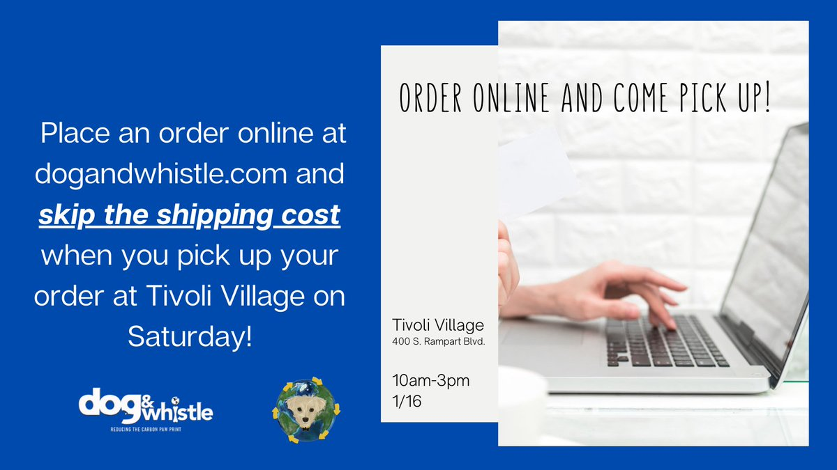 Hey #lasvegas! Place an order online at  and skip the shipping cost when you pick up your order at Tivoli Village on Saturday! #shoplocal #sustainablebusiness #lasvegasbusiness #dogsoflasvegas #ecofriendly #dogsoftwitter