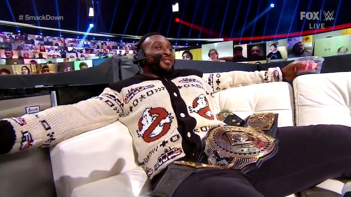 @WWEBigE is officially my cool uncle 🤙🏾...  I want this sweater. it's dope 🔥 #SmackDown