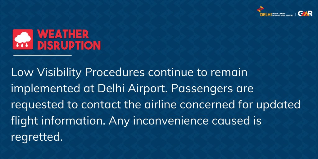 Update issued at 0915 hours: For live updates on the fog situation, visit  #FogAlert #DelhiAirport