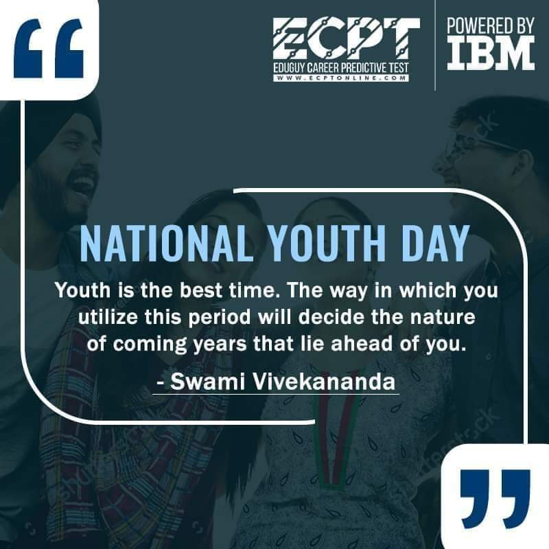 Utilize your youth in its best form. ECPT wishes you a Happy National Youth Day. #YouthDay #NationalYouthDay  #machinelearning #datascience #FindSomethingNew #Eduguy #IBM #Education #careerchoices #careerguidance #Higherstudies #collegehunting #betterchoices #AIConsultant