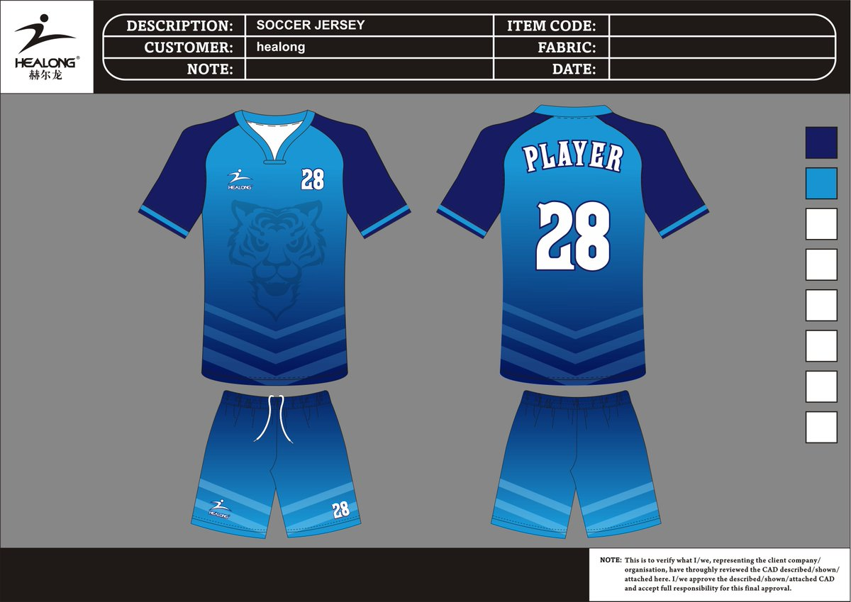 #soccer #sportwear #customdesign #jersey  #footballshirt What better way to promote your business then some custom made jerseys?Contact us at:sales-i@healong.com.