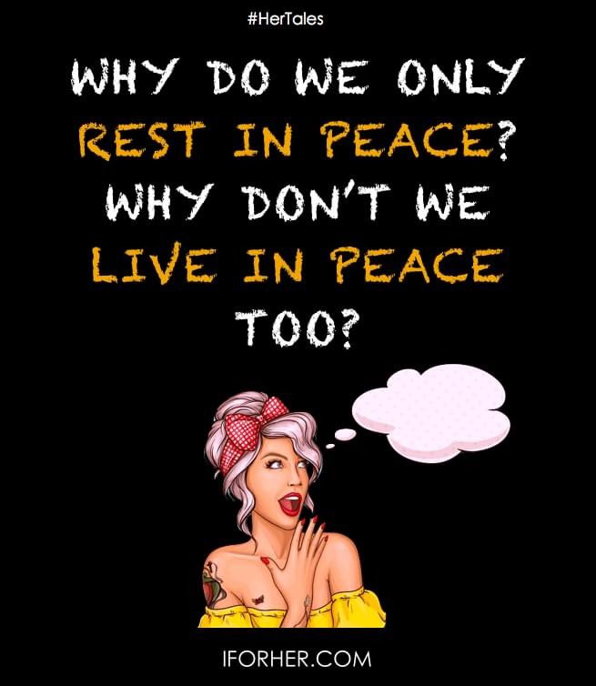 I want to Live In Peace before RIP.   #peaceful #life