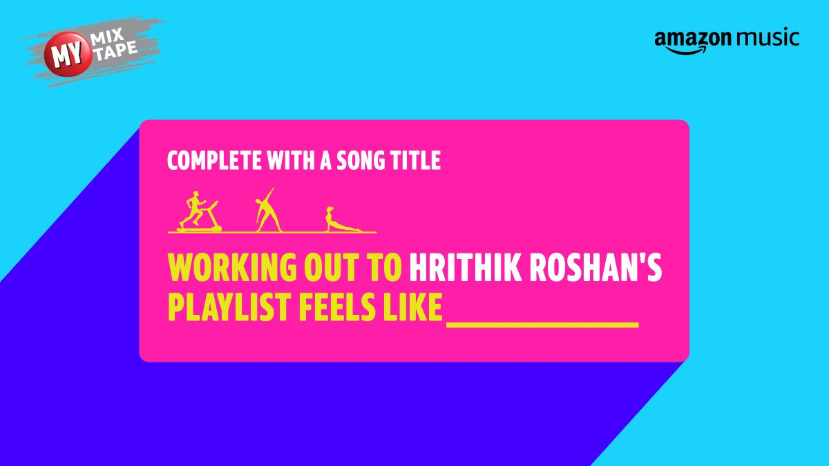 Working out to @iHrithik's playlist makes us feel pumped!🙌🏻  🎧   #MyMixtapeOnAmazonMusic #Fitness #WorkoutMotivation #HrithikRoshan