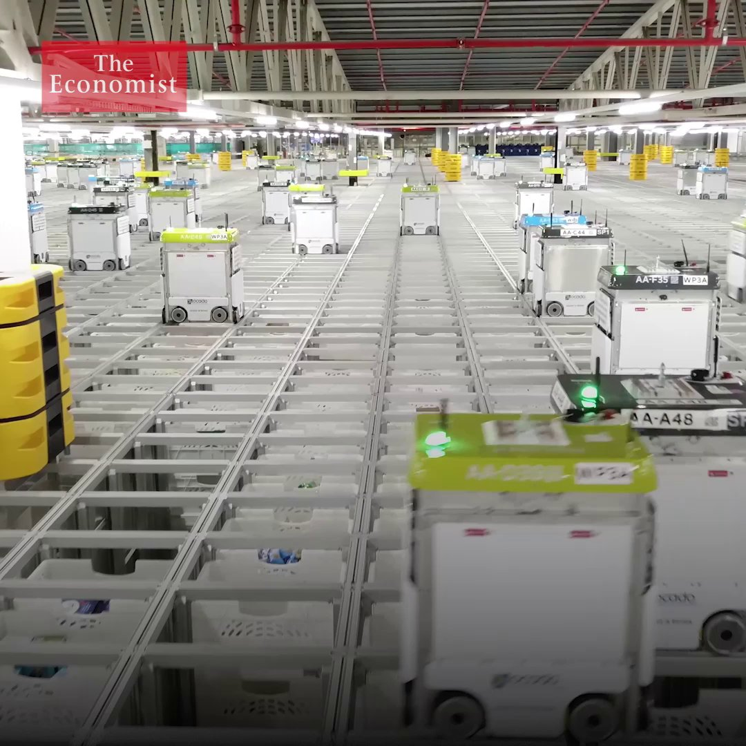 Amazon has an emerging challenger. Ocado, a British firm, is using AI and automation technology to disrupt the online grocery-delivery industry