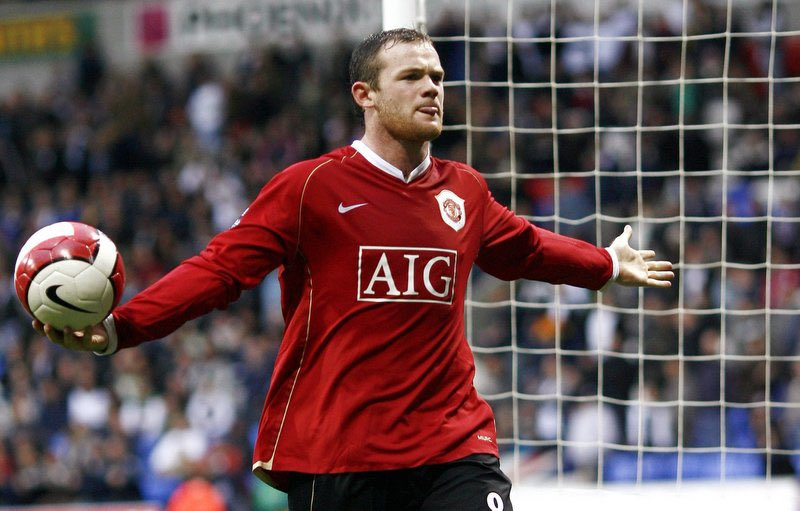 This photo of @WayneRooney against Bolton sums him up perfectly.   Hat trick, his game, his ball, nothing you can do about it #mufc
