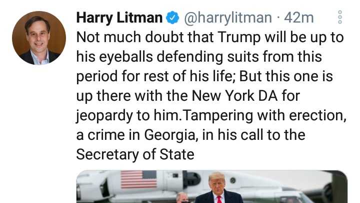 @harrylitman Everybody's talking about the erection tampering but nobody's tweeting about how it was tampered. Trump tampered with the erection over the phone. I guess that would be like reverse phone sex.