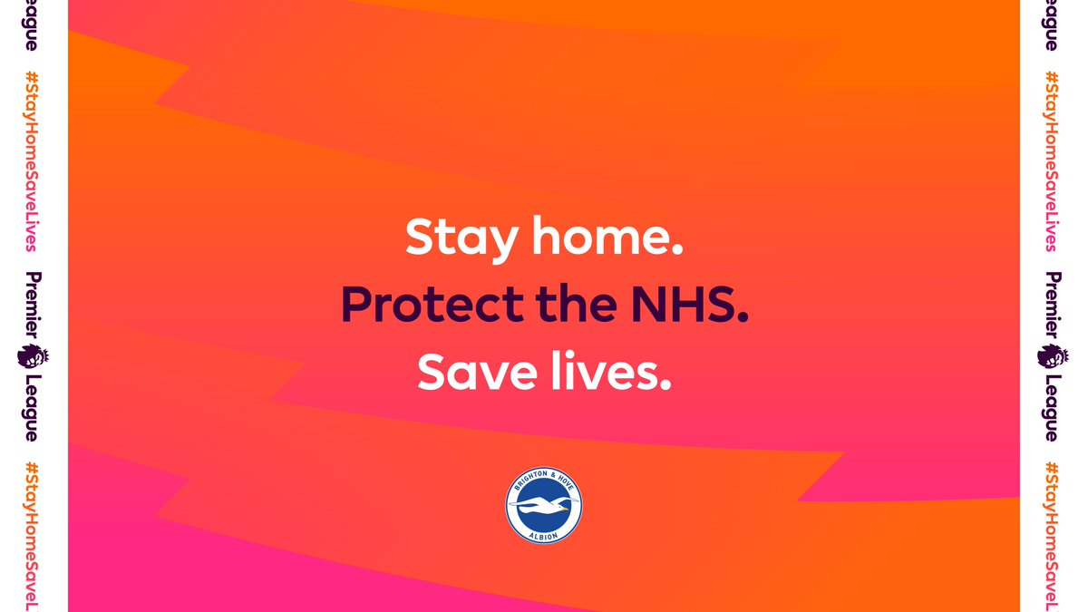 Replying to @OfficialBHAFC: #StaySafe and help us all to take care of each other. 💙  #StayHomeSaveLives  #BHAFC 🔵⚪️