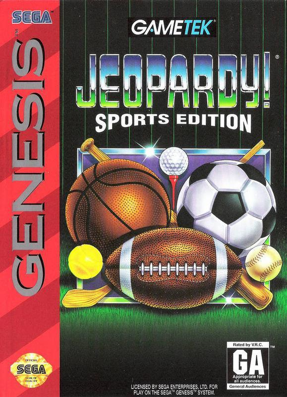 Got sports knowledge? EXCELLENT! Jeopardy! Sports Edition gives the magic of the sports world to challenge players with cool trivia #segagenesis #game #gamers #retrogames #sports