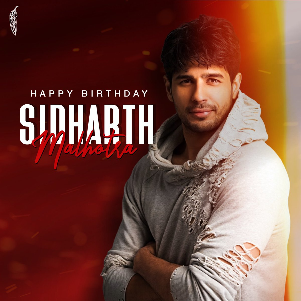 Saturday vibes are stronger as we toast to the birthday of the charming @SidMalhotra ! Always inspiring us with his calm demeanor and dedication to craft! Wishing him a fabulous year ahead.  - 🌶🎂🎁🎉  #HappyBirthdaySidharthMalhotra