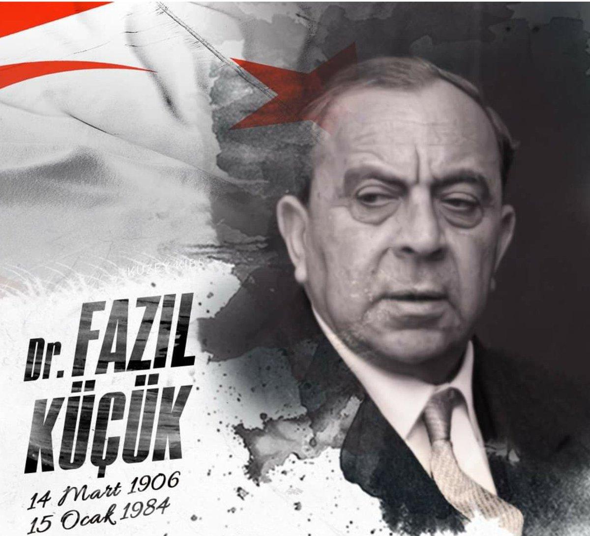 Rauf Denktaş gibi, Kıbrıs Türklüğünün büyük lideri Dr. #FazılKüçük'ü de sonsuzluğa yürüyüşünün 37. yıl dönümünde saygı, sevgi ve özlemle anıyoruz. #KKTC https://t.co/NxnaVNHTUc