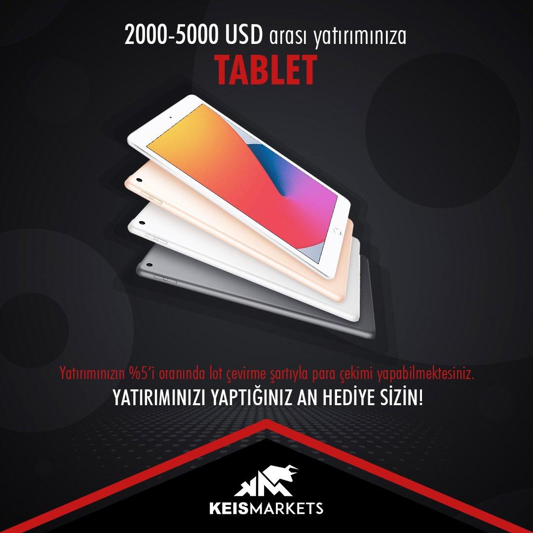 1000-2000 USD arası yatırımlarınıza tablet hediye ediyoruz⌚️ Siz de hemen kazanmak için  adresini ziyaret edin!💵 . .  #KeisMarkets #ForexTürkiye #ForexSinyalleri #KriptoPara #Borsa #BorsaEndeksleri #HisseSenetleri #BitCoin #Emita #Euro #Usd #Altın