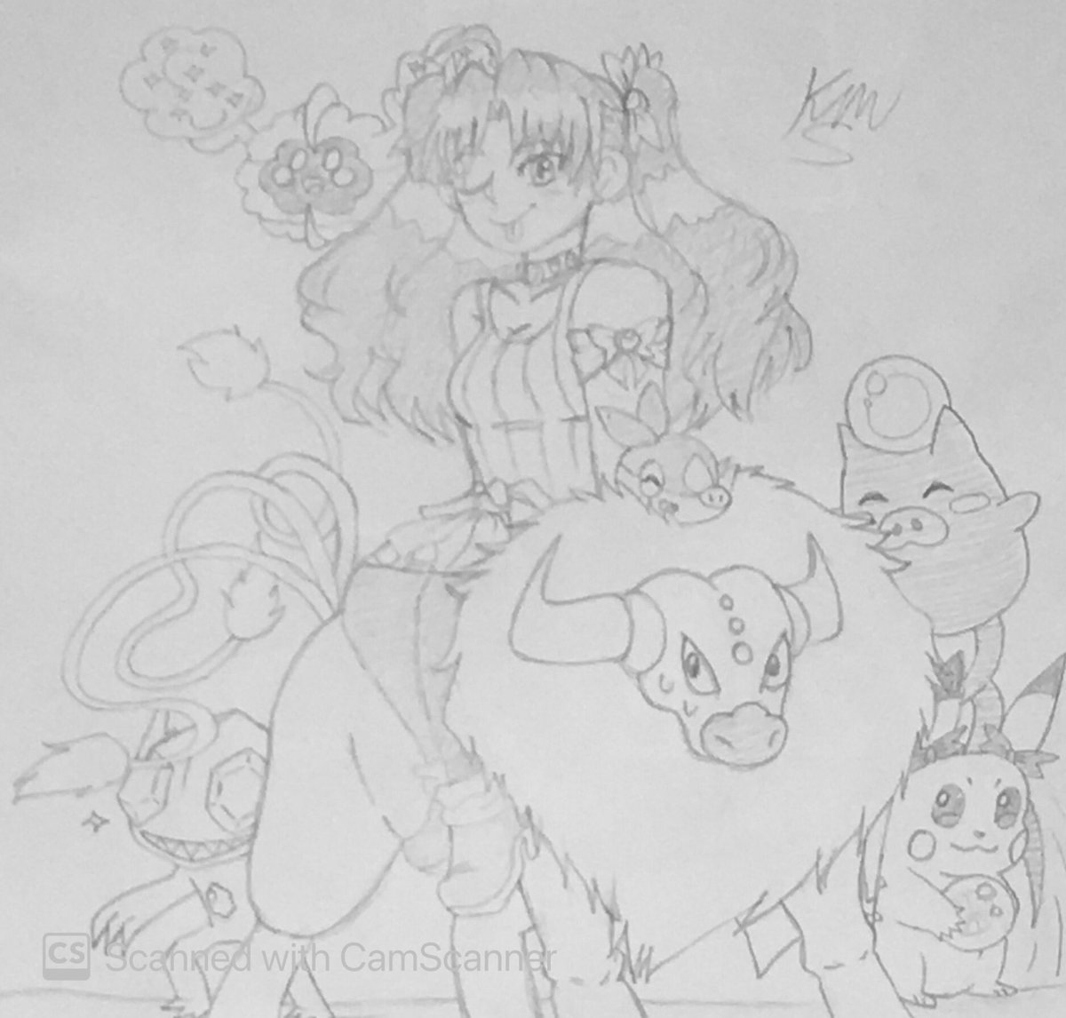 Pokémon Trainer Ishtar! #FGO #FateGrandOrder #MyArt #drawing