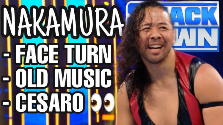 SHINSUKE NAKAMURA  - Face turn - Old music  - Cesaso 👀  The king of strong style is back 🥳  #ShinsukeNakamura #Nakamura #WWE #Smackdown #Cesaro #WWESmackdown #RoyalRumble        👇🏻 🔹