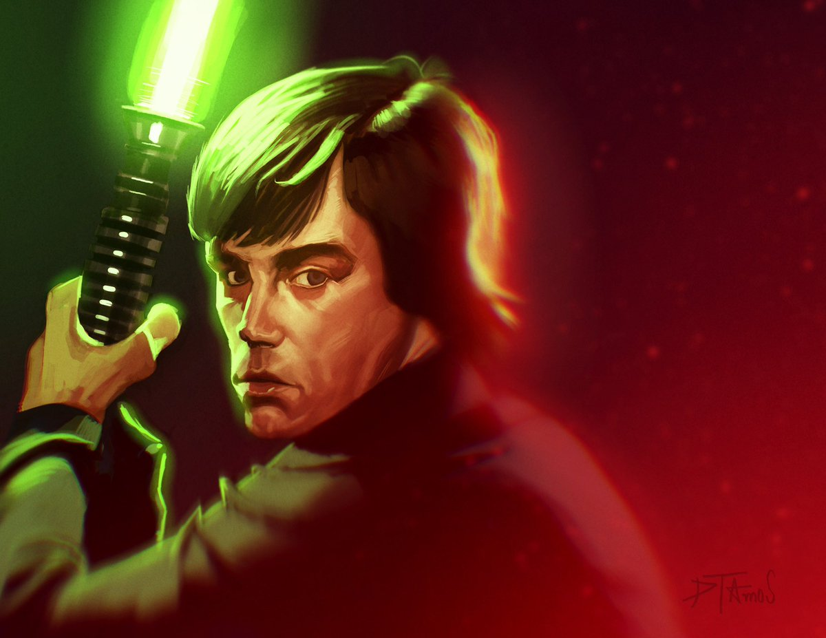 Legend.  #Artwork #Drawing #StarWarsArt #LukeSkywalker #MarcTamal #Illustration #Fanart #artistsontwitter
