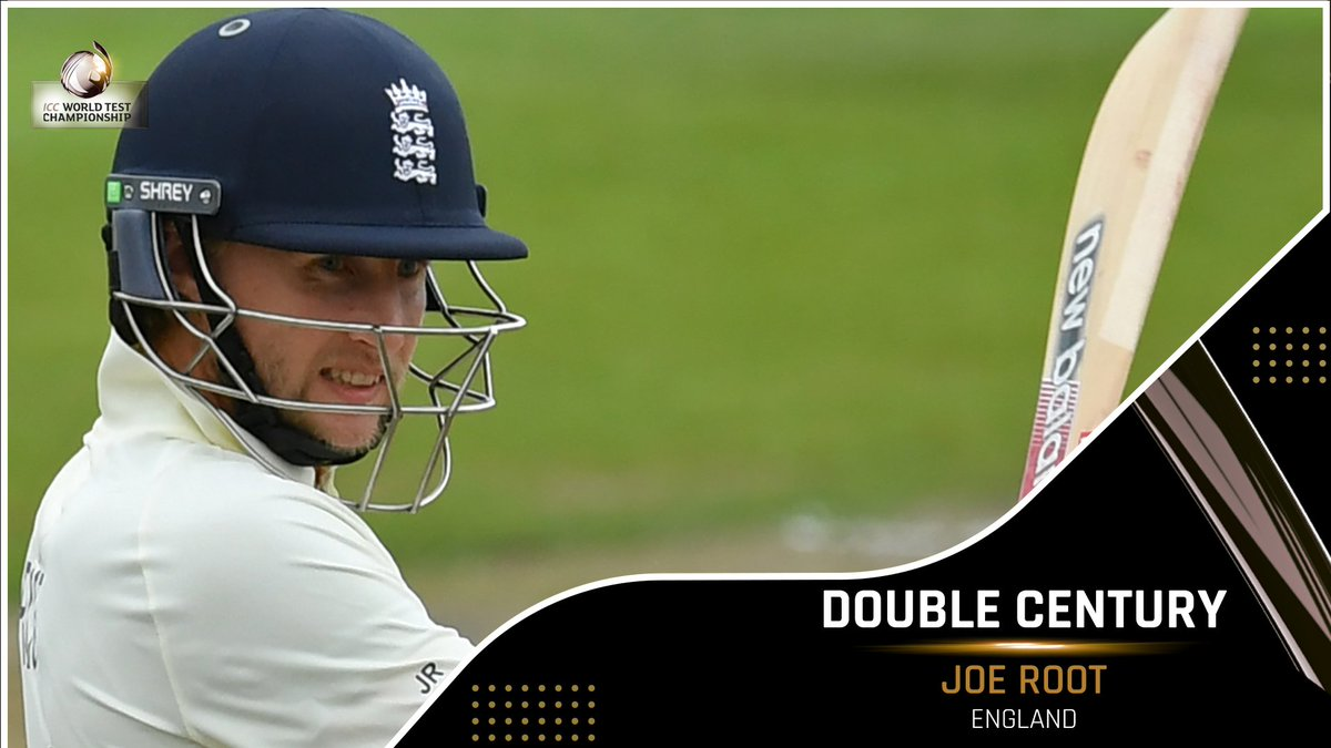 Joe Root slams his fourth Test double ton, his second against Sri Lanka 💥  His brilliant innings has taken England's lead past 200 runs.   #SLvENG
