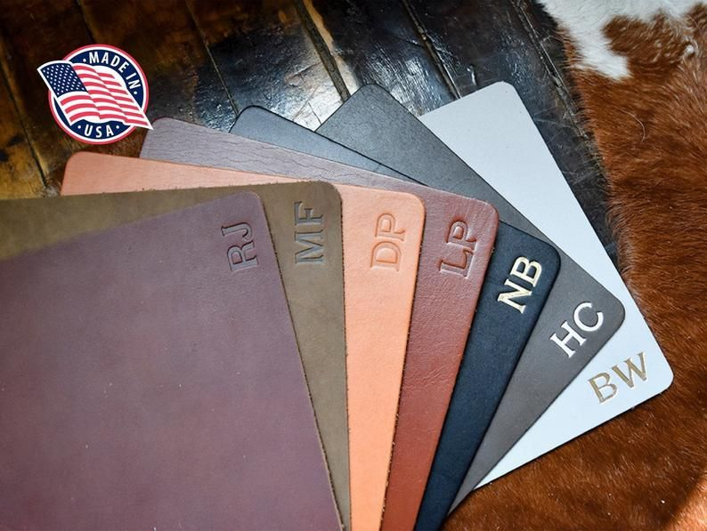 This Personalized Leather Mousepad is fabulous! #ShopSmall here >>  [ad]