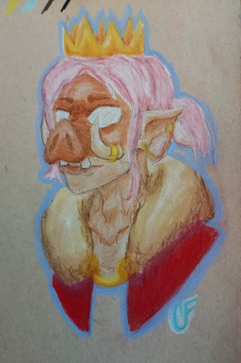 Decided to test out some pastel pencils I got as a gift and I accidentally drew Technoblade...whoops  #technobladefanart #technoblade #technofanart #art #pastelart