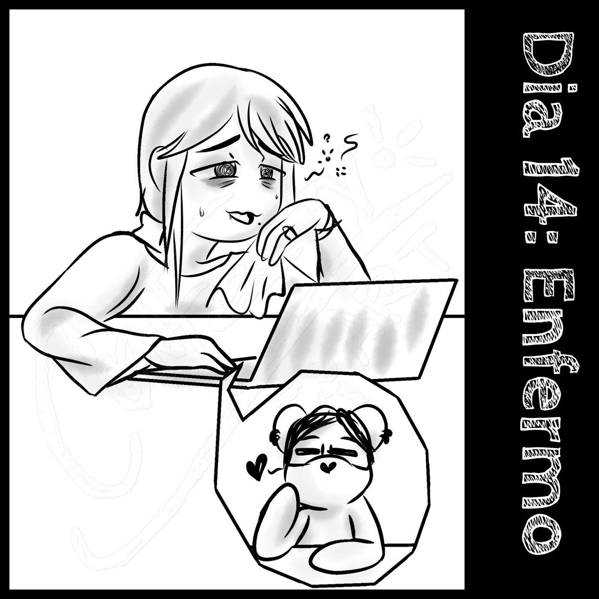 """Dia 14: Enfermo -"""" estade bien...""""  Recuerden que si se sienten enfermitos, es mejor no salir! Hay que cuidarnos y cuidar a los que amamos! UvU  #ConFeeTyArt #ConFeeTy  #art #digitalart  #oc #ConFeeTyList2021  #ConFeeTyList  #challenge #drawingchallenge #drawingchallenge2021"""