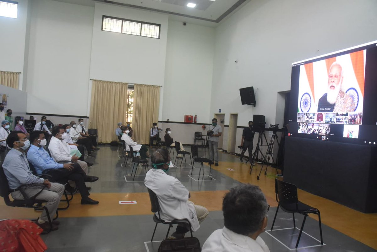 Attending the video conference by PM Shri @narendramodi for the launch of pan-India rollout of #COVID19 vaccination drive.