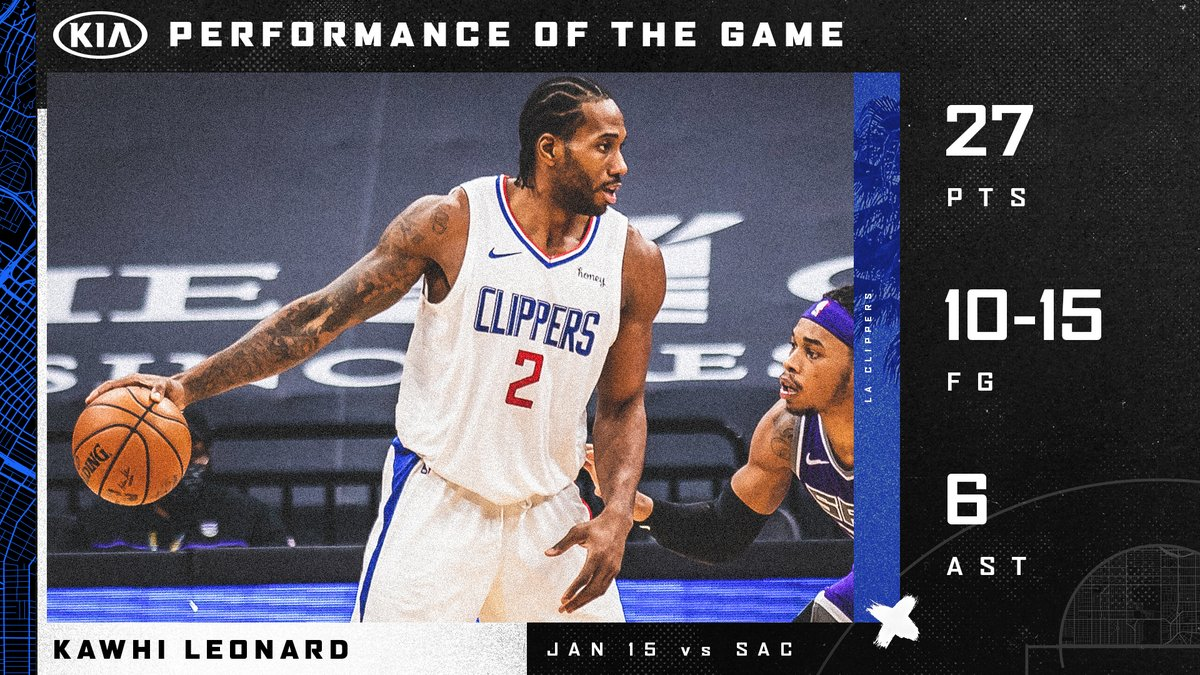 .@kawhileonard went to work.  He earns our @Kia Performance of the Game. https://t.co/WvERUQObhc