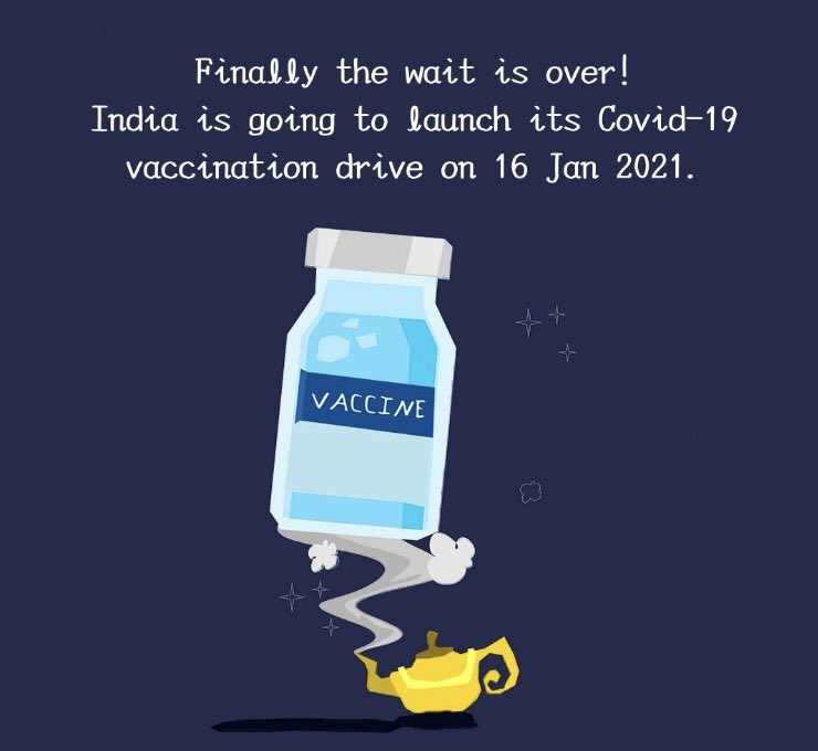 """""""The dark days of COVID-19 are ending from today in India. Indian PM Shri Narendra Modi sir has always supported and guided our country throughout this pandemic and today the announcement of #CoronaVaccine is finally here!#AtmaNirbharBharat #Covidshield #Covaxin"""" https://t.co/NQjVRoajxi"""