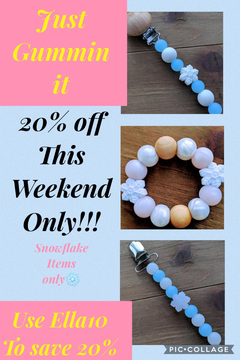 Just Gummin it on Facebook!!! Go!!! Mention Ella10 to save 20-% those weekend #sale #teether #paciclip #ad #shoplocal #shopsmall