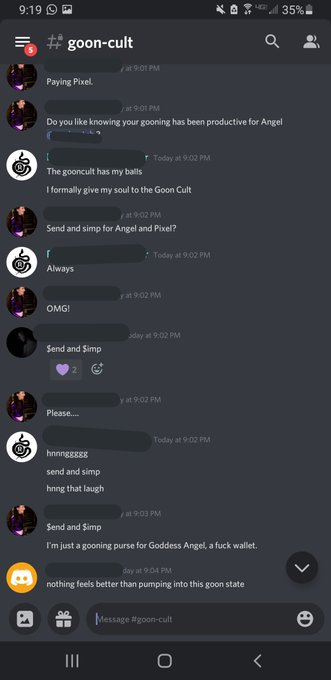 3 pic. My Goon Cult members were all encouraged by a female gooner tonight all in a voice chat while