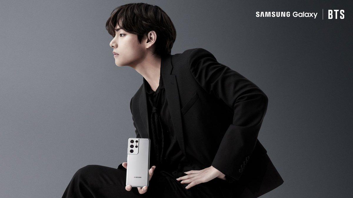 @SamsungMobile @BTS_twt KimTaehyung x Samsung Galaxy #KimTaehyung #SamsungUnpacked #BTSxSamsung #GalaxyxBTS