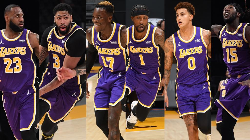 The Lakers had SIX players score in double digits tonight.  This is the 6th time they've done it this season 🔥