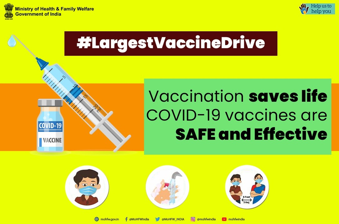 💉 Vaccines are safe.   💉 Vaccines prevent deadly illnesses.   💉 Vaccines provide better immunity.  @PMOIndia @narendramodi has launched the 🌎's largest #COVID19 vaccination drive.   Be ready to be vaccinated when your turn comes.  #TogetherAgainstCovid19 #LargestVaccineDrive