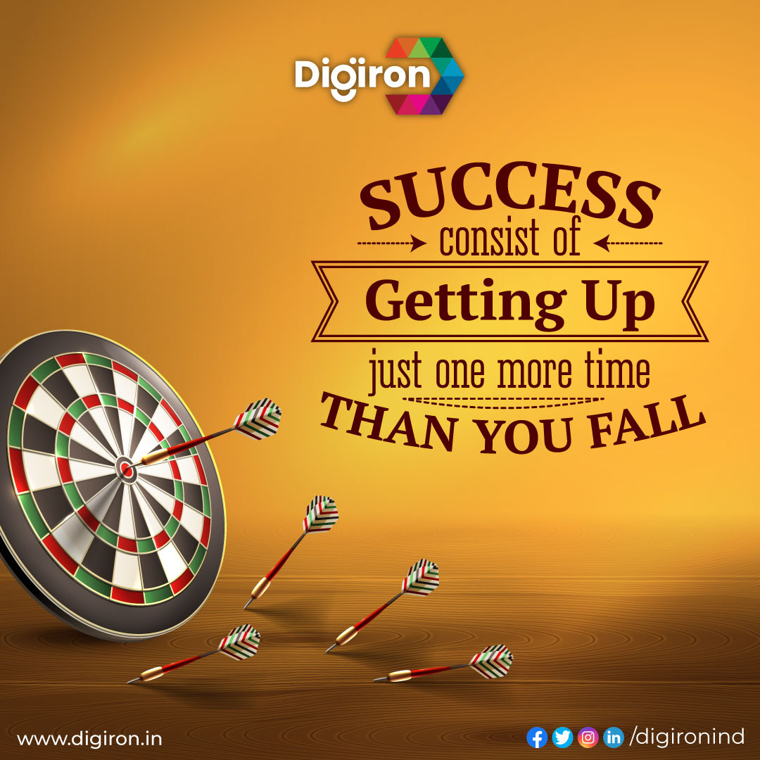 """""""Success consist of getting up just one more time than you fall.""""  Check the link in our bio. @digironind  #digironindia #digiron #dailymotivation #success #consist #gettingup #fall #motivational #dreams #motivation #follow #lifestyle #entrepreneur #business #goals #happiness"""